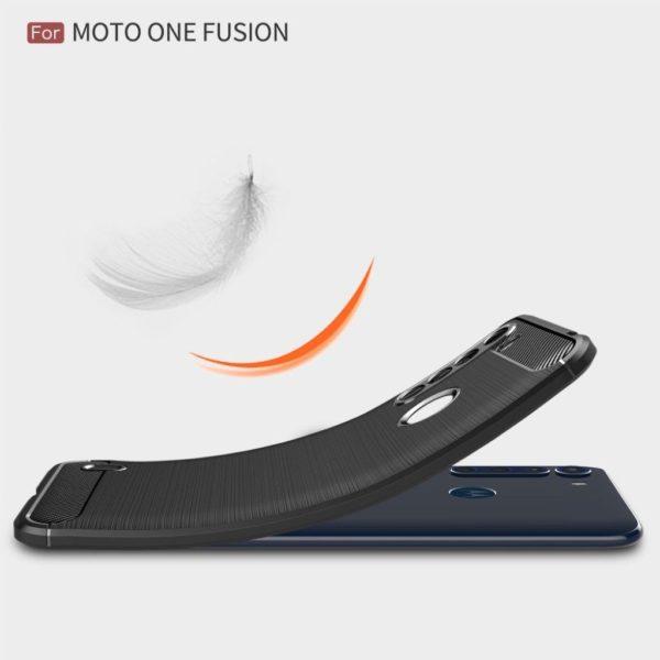 کیس TPU طرح کربن motorola one fusion